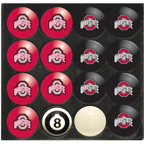 Imperial Officially Licensed NCAA Merchandise: Home vs. Away Billiard/Pool Balls, Complete 16 Ball Set, Ohio State Buckeyes