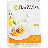 BariWise Low-Carb Bacon Cheese Omelet Mix/High Protein Mix (7 Servings/Box) - Low Carb, Low Fat, Gluten Free