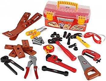 Liberty Imports Power Tools Construction Tool Box for Kids
