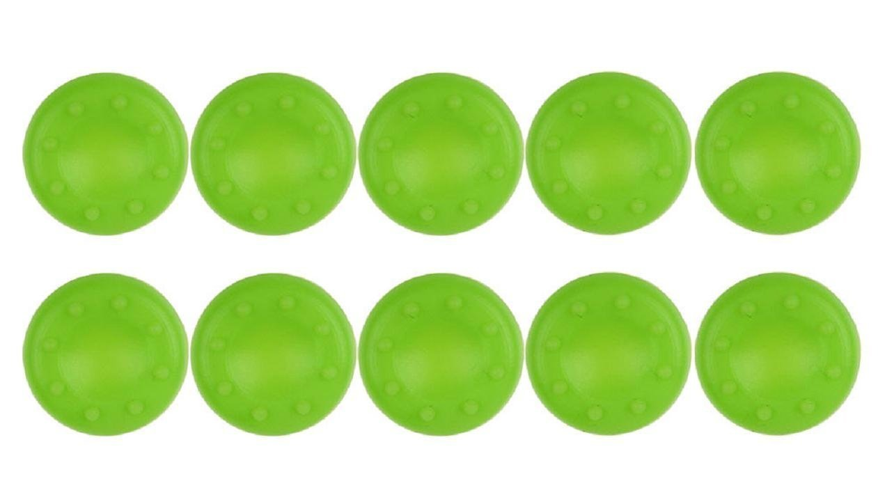 Hosaire 10 Pcs Analog Stick Joystick Controller Thumb Grips Cap Silicone Stick Protect Cover for PS2, PS3, PS4, Xbox 360, Xbox One, Wii Game Controller Green