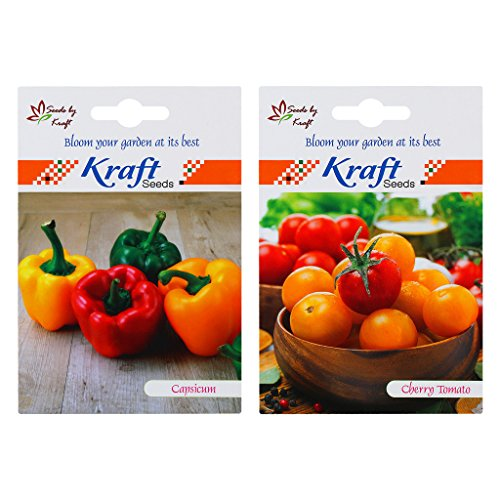Seed Packets (2 in 1) – Cherry Tomato Yellow Hybrid & Bell Pepper / Capsicum …