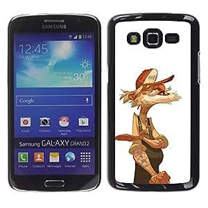 YOYOYO Smartphone Protección Defender Duro Negro Funda Imagen Diseño Carcasa Tapa Case Skin Cover Para Samsung Galaxy Grand 2 SM-G7102 SM-G7105 - viejo camionero marinero jubilado blanco