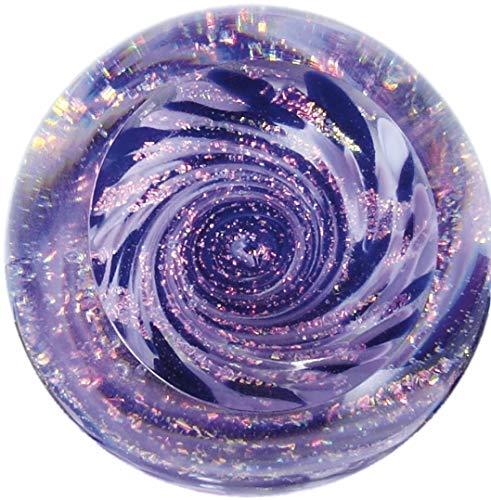 Glass Eye Studio Vortex Purple Marble Paperweight 2