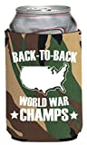Funny Guy Mugs Back-To-Back World War Champs Neoprene Can Coolie, Camo