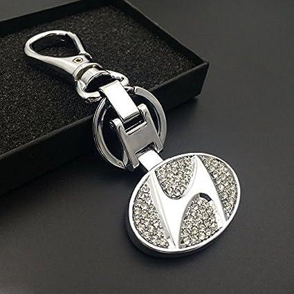 Amazon Champled Hyundai Rhinestones Emblem Keychain Keyring