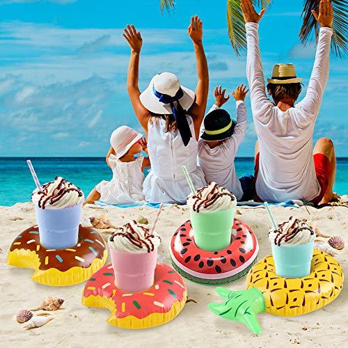 VGOODALL Aufblasbare Getränkehalter, 10 Stück Pool Becherhalter Inflatable Flaschenhalter Dosenhalter Pool Party Deko Badspielzeug