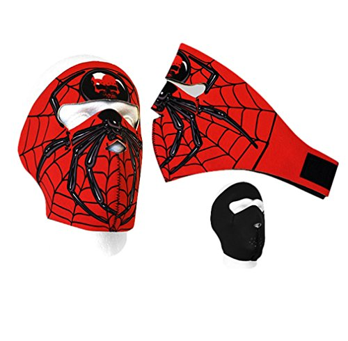 Neoprene Mask for ski, motorcycle, biking, riding (spiderman pattern)