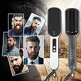 Ionic Beard Straightener Brush, Electrical Heated Irons Hair Straightening with Faster Heating, PTC Ceramic Technology, Auto Temperature Lock, Anti Scald for women