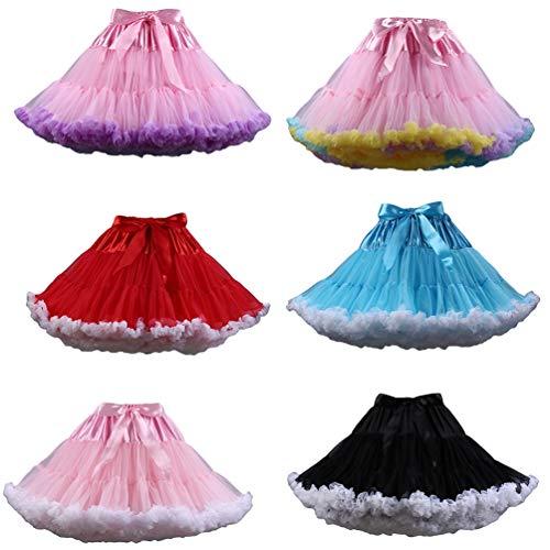 6 Varies Jupon Pettiskirt Ballet Comme Couleurs Tulle Tulle Jupe Tutu en en Femme Image Tutu Ballet YAANCUNN Court wTxqBB