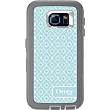 OtterBox DEFENDER SERIES Case for Samsung Galaxy S6 - Retail Packaging- Gunmetal Grey/White/Moroccan Sky