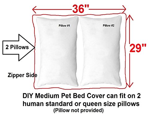 Do It Yourself DIY Pet Bed Pillow Duvet Suede Cover + Waterproof Internal case for Dog/Cat at Medium 36''X29'' Espresso Color - Covers only by Dogbed4less (Image #4)
