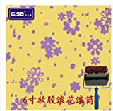 6 inch Liquid Wallpaper Rubber Roller rodillos con relieve para pintar paredes Pattern Paint Roller without Box Floral Purple