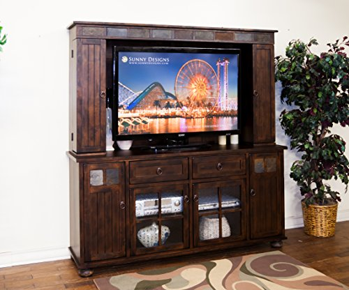 Sunny Designs K3322DC Santa Fe TV Console with Hutch by Sunny Designs