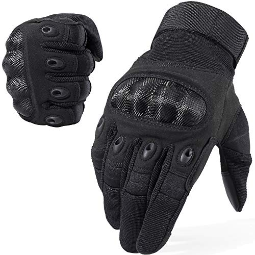 WTACTFUL Touchscreen Motorcycle Full Finger Gloves for Cycling Motorbike ATV Hunting Hiking Riding Racing Climbing Operating Work Outdoor Sports Gloves Size Large Black