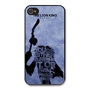Disney The Lion King Character Rafiki U4M3QS6T Caso funda iPhone 4 4s Caso funda del teléfono celular Negro