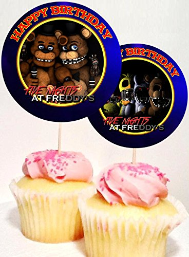12-Five-Nights-at-Freddys-Birthday-Inspired-Party-Picks-Cupcake-Picks-Cupcake-Toppers-1
