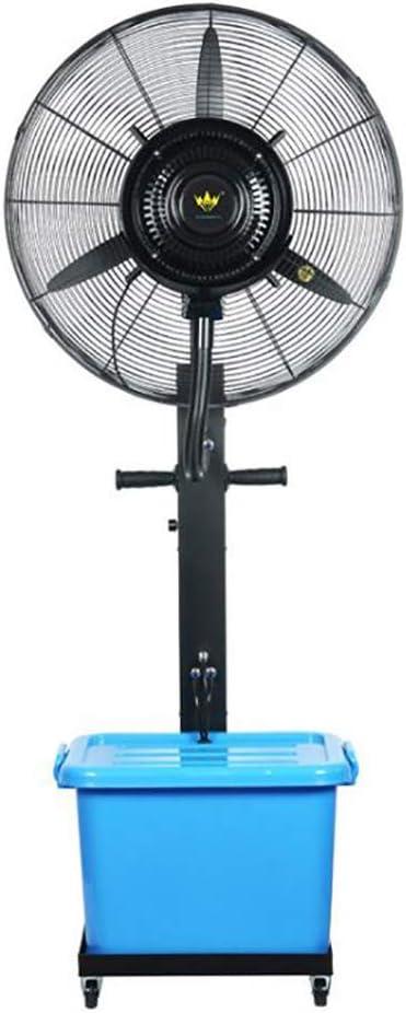Refrigeración por aspersión Ventilador industrial Ventilador nebulización agua en el piso Ventilador por aspersión Enfriador aire Ventilador refrigeración por aire Humidificador aire (color: azul, t: Amazon.es: Deportes y aire libre
