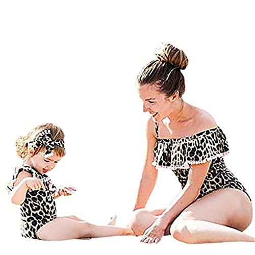 Regalo Un Costume Ragazza Shine elegante Monokini Queque Coordinati Sportivi Beachwear Figlia Family Di Partita Pezzo Leopardo Per Stampare E Set Da Famiglia Bikini Swimsuit Bagno Costumi Madre v4FnF
