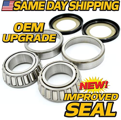 - Drag Neck Stem Post Bearing, Race & Seal Kit Replaces Harley OEM 48300-60, 48315-60, HD Switch