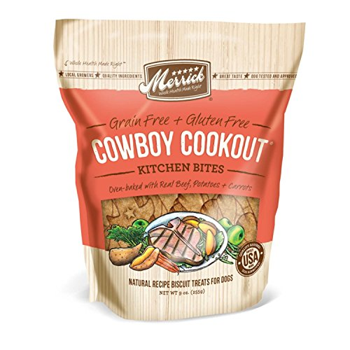 6 Pack Merrick Kitchen Bites for Pets, 9-Ounce, Cowboy Cookout For Sale