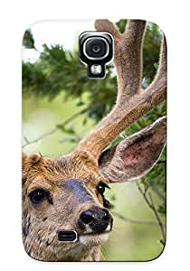 Storydnrmue Tpu Case For Galaxy S4 With Animal Deer, Nice Case For Thanksgiving Day's Gift