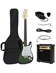 Full Size Green Electric Guitar with Amp, Case and Accessorie...