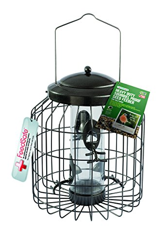 Gardman Heavy Duty Die Cast Metal Squirrel Proof Bird Seed Feeder Cage|Easy Fill