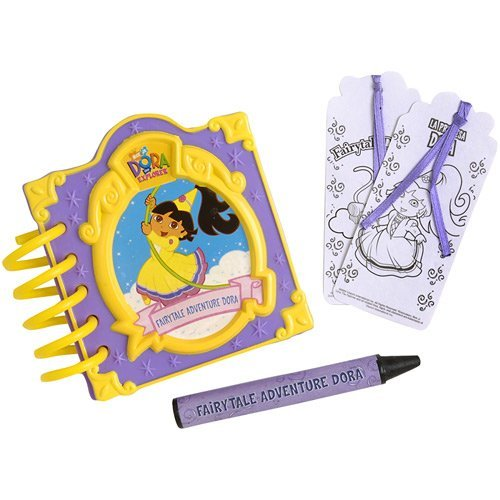 Flying Colors Educational Products - DORA THE EXPLORER Fairytale Notebook - FAIRYTALE ADVENTURE DORA - Dry-Erase Jumbo Crayon! ()