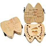 Mogoko Baby Tooth Keepsake Box Wooden First Tooth and...