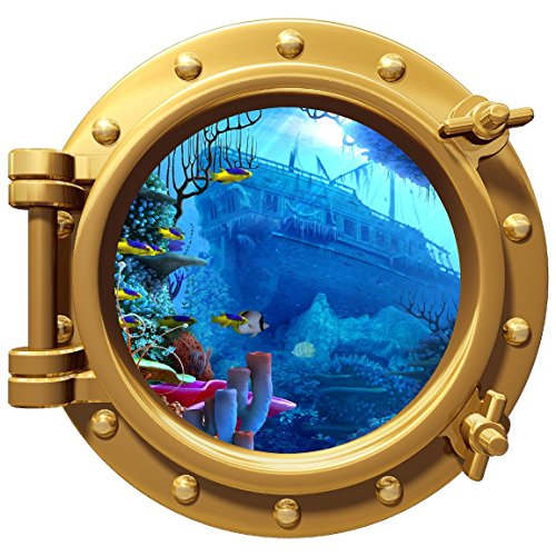 Porthole Wall Color Decal Pirate Ship Wreck 12