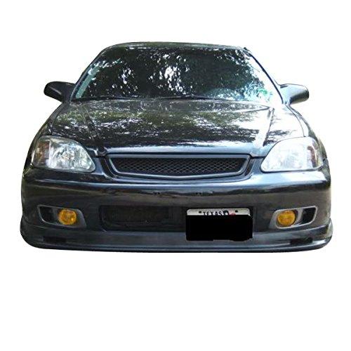 IKON MOTORSPORTS Front Bumper Lip Fits 1999-2000 HONDA CIVIC PP Black PP Front Lip Spoiler Splitter