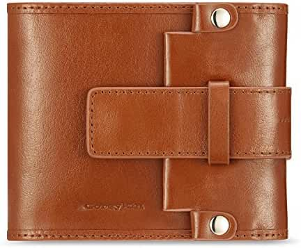 CoreyKin Men's Genuine Cowhide Leather Vintage Trifold Wallet. ID Wallet