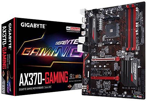 - GIGABYTE GA-AX370-Gaming (AMD Ryzen AM4/ X370/ SMART FAN 5/ HDMI/ M.2/ 2xUSB 3.1 Gen 2 Type-A/ ATX/ DDR4 Motherboard)