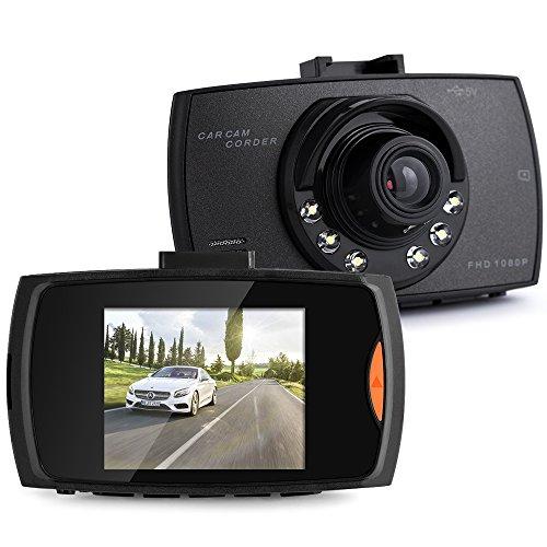 Car Dash Cam, Purhood Mini LCD Car Video Camera Recorder with FHD 1080P, Night Vision, Loop Recording for Cars