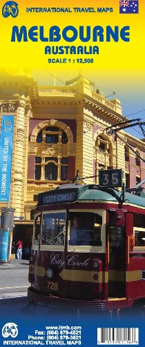 Melbourne Australia 1:12,500 Travel Map