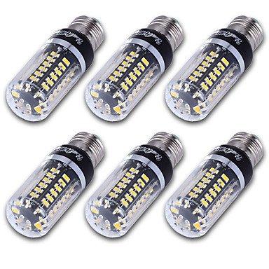 RTS 6pcs Hohes leuchtendes E27 E14 E12 56 * 5736 SMD LED de maíz Bombilla 5
