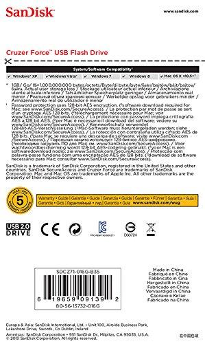 Flash Drive - 2.0 SDCZ71-016G-B35