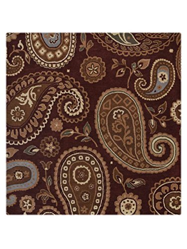 Rug Source New Oushak All-Over Floral Paisley Hand-Tufted 8x12 Red Wool Oriental Area Rug (11' 8