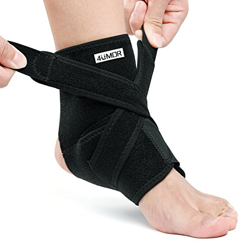 Ankle Support, 4UMOR Adjustable Ankle Brace Nylon Material Breathable...