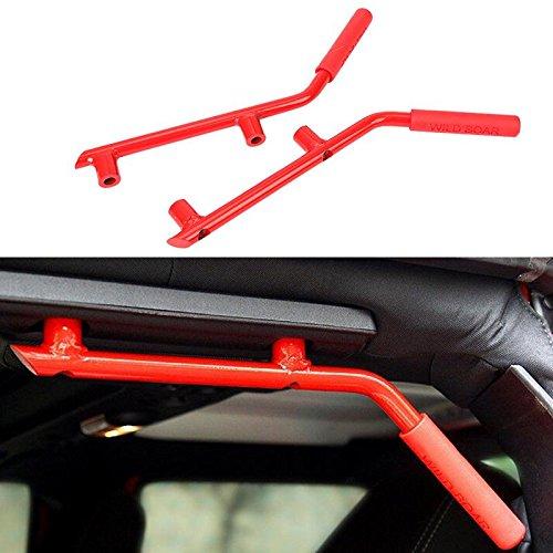 b Bars Grab Handles for Jeep Wrangler 2007-2017 2/4 Door Solid Steel ()
