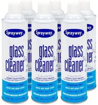 Sprayway Glass Cleaner - 6 Cans