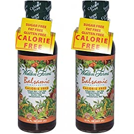 Walden Farms Balsamic Vinaigrette 12 Fl Oz Set Of 2 9 Balsamic vinaigrette Calorie free, sugar free, fat free Blend of aged vinegar, herbs and spices