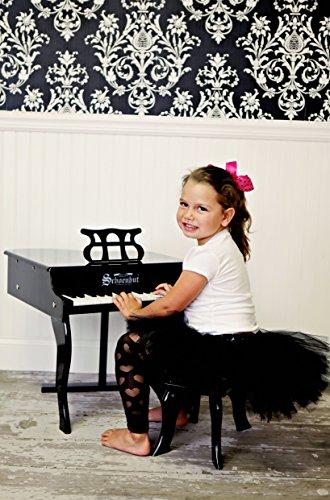 51WYCn%2BNOjL - Schoenhut 30-Key Fancy Baby Grand with Bench,Black