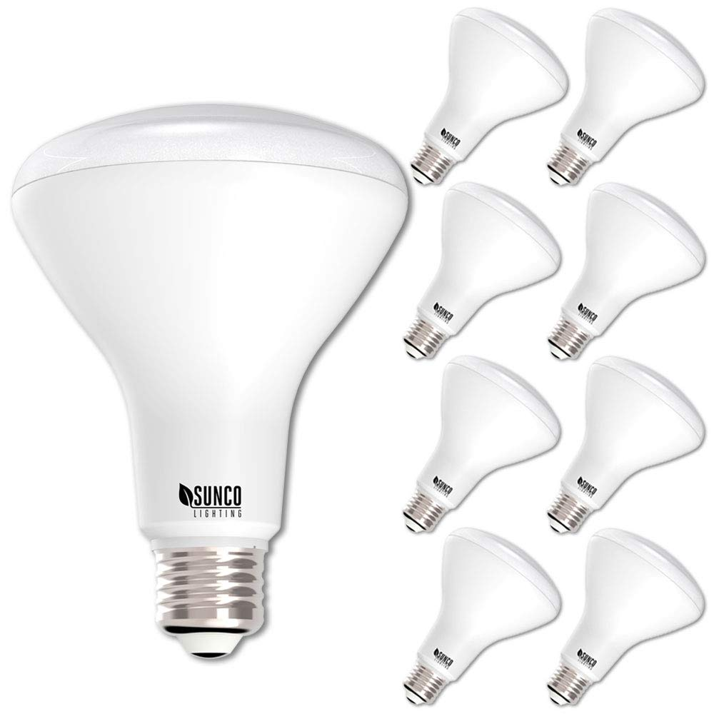 Sunco Lighting 8 Pack BR30 LED Bulb 11W=65W, 3000K Warm White, 850 LM, E26 Base, Dimmable, Indoor/Outdoor Flood Light - UL & Energy Star