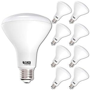 Sunco Lighting 8 Pack BR30 LED Bulb 11W=65W, 4000K Cool White, 850 LM, E26 Base, Dimmable, Indoor/Outdoor Flood Light - UL & Energy Star