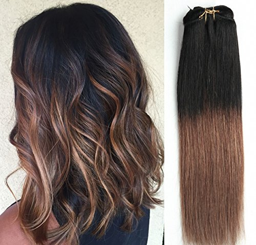 12 Inches Short Straight Full Head 100% Real Clip in Human H