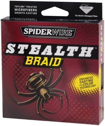 Spiderwire 125-Yard Stealth Glow-Vis Braid Fishing Line