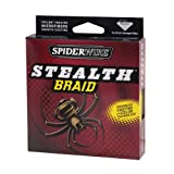 Spiderwire 125-Yard Stealth Glow-Vis Braid Fishing Line, Glow Vis Green, 8/1.5