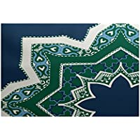 E by design RGN729BL44-35 Rising Star, Geometric Print Indoor/Outdoor Rug, 3 x 5, Blue