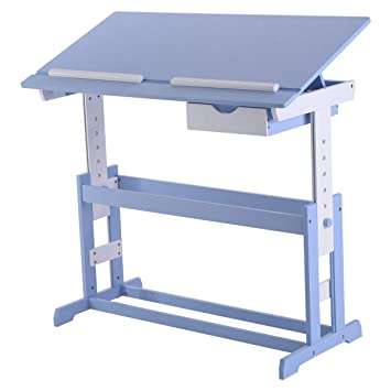 Costway Escritorio Infantil Altura Ajustable inclinable Mesa de ...